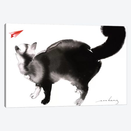 Fly-by Canvas Print #LIM51} by Soo Beng Lim Canvas Wall Art