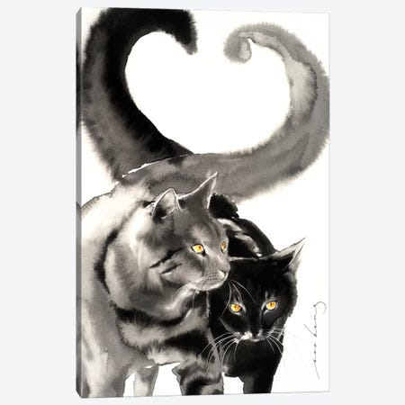 Heart Tails Canvas Print #LIM62} by Soo Beng Lim Art Print