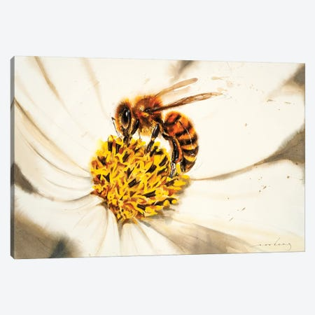 Honey Buzz Canvas Print #LIM65} by Soo Beng Lim Canvas Wall Art