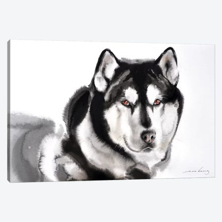 Husky Canvas Print #LIM68} by Soo Beng Lim Canvas Art Print
