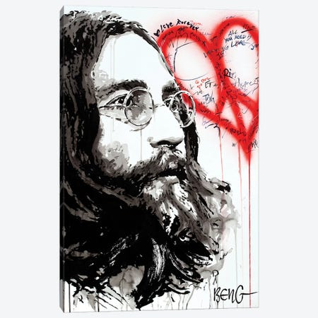 John Lennon Canvas Print #LIM69} by Soo Beng Lim Canvas Art Print