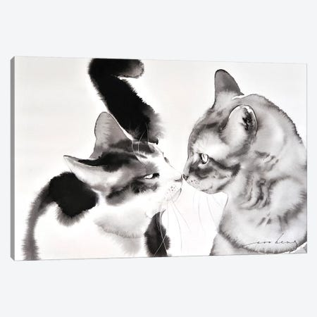 Love Greeting Canvas Print #LIM72} by Soo Beng Lim Canvas Artwork