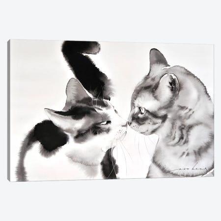 Love Greeting Canvas Print #LIM72} by Soo Beng Lim Canvas Artwork