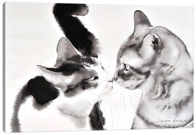 Love Greeting Canvas Art Print
