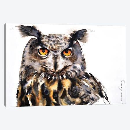 Owl Vision Canvas Print #LIM76} by Soo Beng Lim Art Print