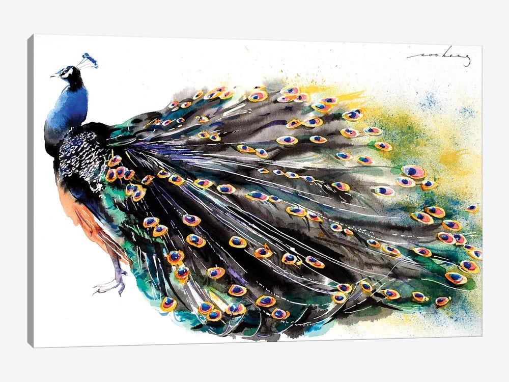 Peacock Splendour I by Soo Beng Lim 1-piece Canvas Wall Art