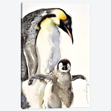 Penguin 3-Piece Canvas #LIM81} by Soo Beng Lim Art Print