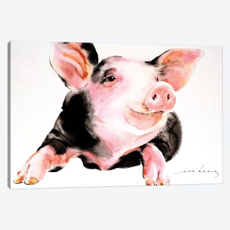 Prosperity Pig IV Canvas Print #LIM83} by Soo Beng Lim Art Print