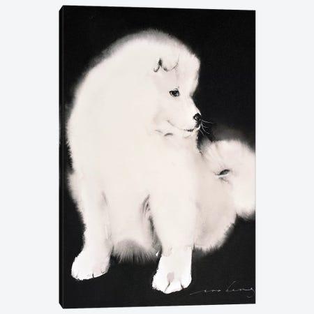 Samoyed Pup Canvas Print #LIM88} by Soo Beng Lim Canvas Art Print
