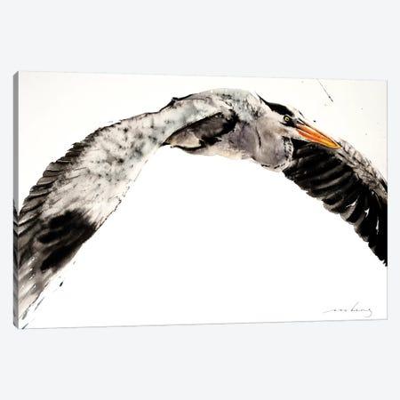 Stork in Flight II Canvas Print #LIM96} by Soo Beng Lim Canvas Print