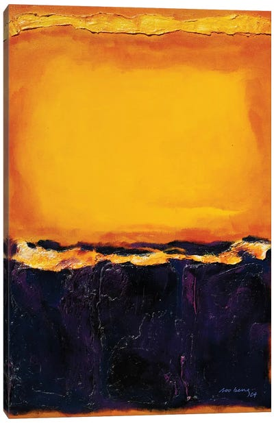 Sunset II abstract Canvas Art Print