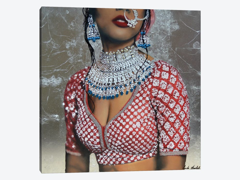 Indian Couture II by Linda Charles 1-piece Canvas Art Print