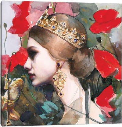 Die Froschkönigin Canvas Art Print