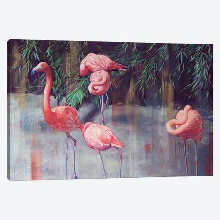 Flamingos Canvas Print #LIO17} by Lioba Brückner Canvas Art Print