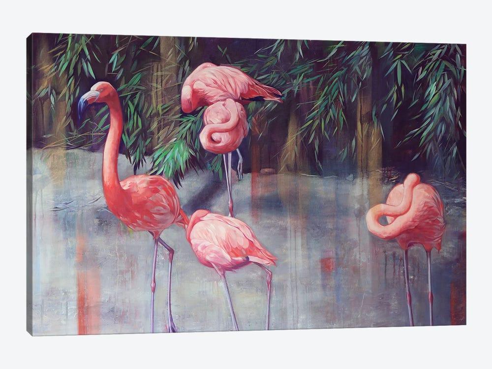 Flamingos by Lioba Brückner 1-piece Canvas Print
