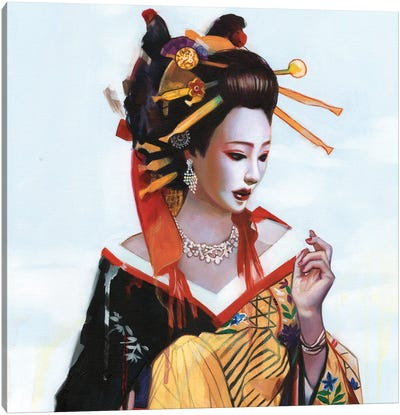 Fukai Aijō Canvas Art Print