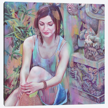 Shi Canvas Print #LIO47} by Lioba Brückner Canvas Art