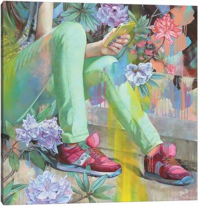 Azalea And Rich Blossoms Canvas Art Print