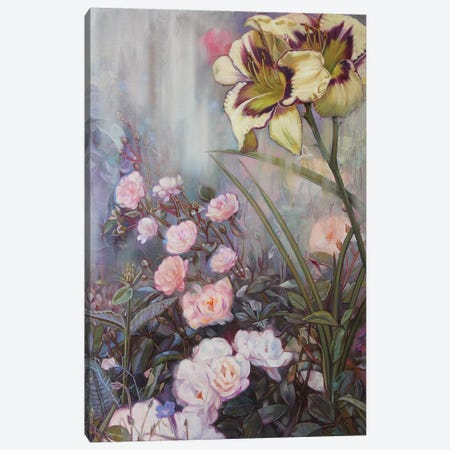 Summer Flowers Canvas Print #LIO51} by Lioba Brückner Canvas Artwork