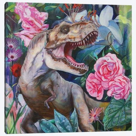 T Rex II Canvas Print #LIO53} by Lioba Brückner Canvas Artwork