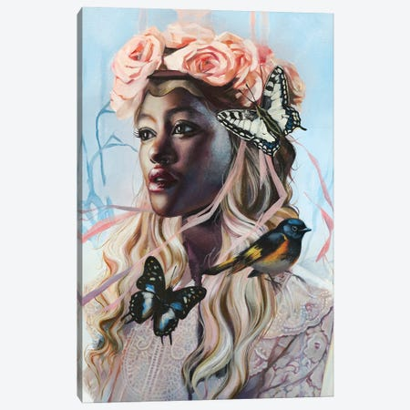Wind Chime Canvas Print #LIO65} by Lioba Brückner Canvas Wall Art