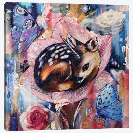 Young Fawn 3-Piece Canvas #LIO67} by Lioba Brückner Canvas Wall Art