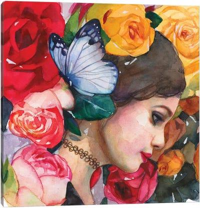 In The Rose Garden Canvas Art Print