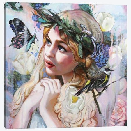 Ostara Painting Canvas Print #LIO78} by Lioba Brückner Canvas Wall Art