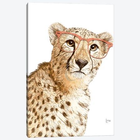 Cheetah With Orange Glasses Canvas Print #LIP10} by Printable Lisa's Pets Canvas Art Print