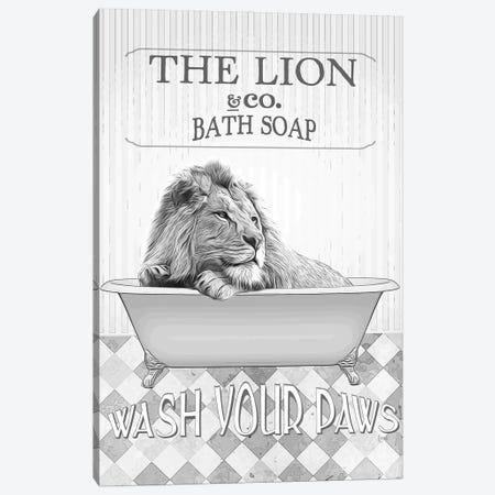 Lion Bathroom Decor Canvas Print #LIP138} by Printable Lisa's Pets Canvas Artwork