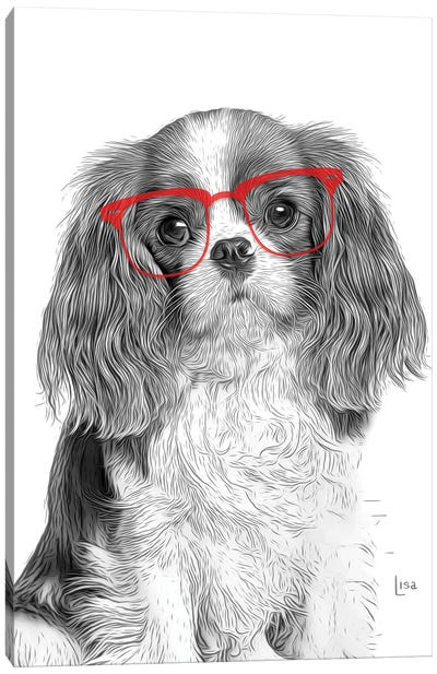 Cavalierking With Red Glasses Canvas Art Print