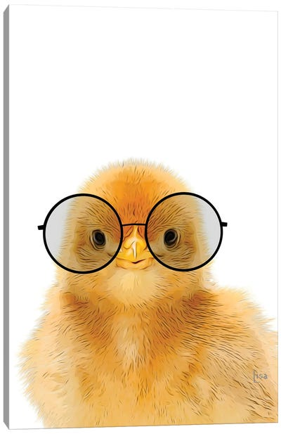 Chick With Glasses Canvas Art Print