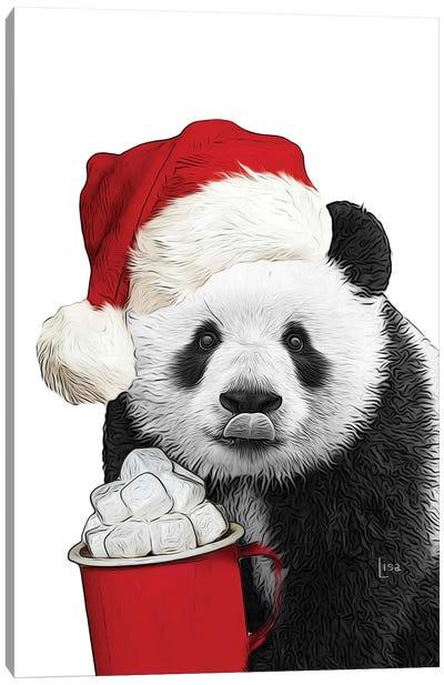 Christmas Panda Canvas Art Print