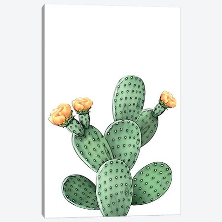 Green Cacti Color Canvas Print #LIP246} by Printable Lisa's Pets Canvas Art Print