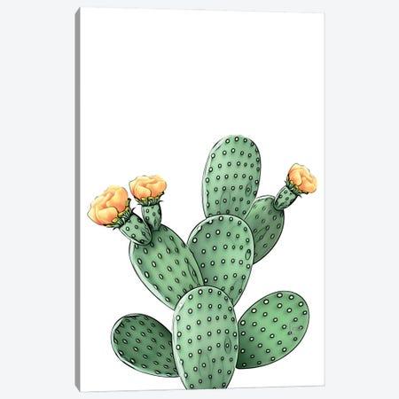 Green Cacti Color Canvas Print #LIP246} by Printable Lisa's Pets Canvas Art Print