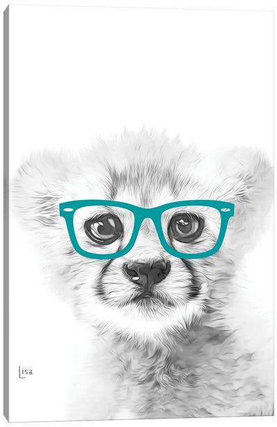 Cheetah With Glasses Canvas Art Print
