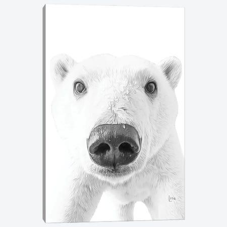 Polar Bear Canvas Print #LIP30} by Printable Lisa's Pets Canvas Print