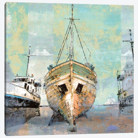 Boat Yard Canvas Print #LIR12} by Lisa Robinson Canvas Art Print
