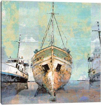 Boat Yard Canvas Art Print