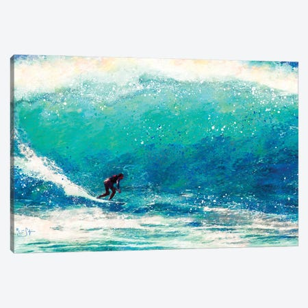 Catching the Wave Canvas Print #LIR14} by Lisa Robinson Canvas Art
