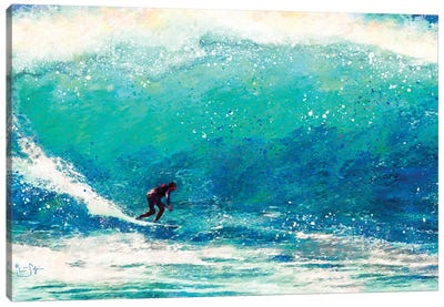 Catching the Wave Canvas Art Print