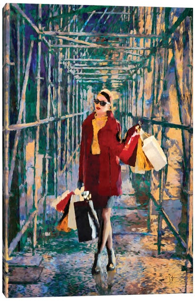 City Construction Canvas Art Print