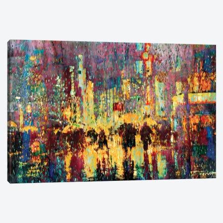 City Rain Canvas Print #LIR16} by Lisa Robinson Canvas Artwork