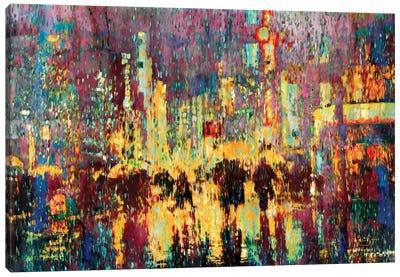 City Rain Canvas Art Print