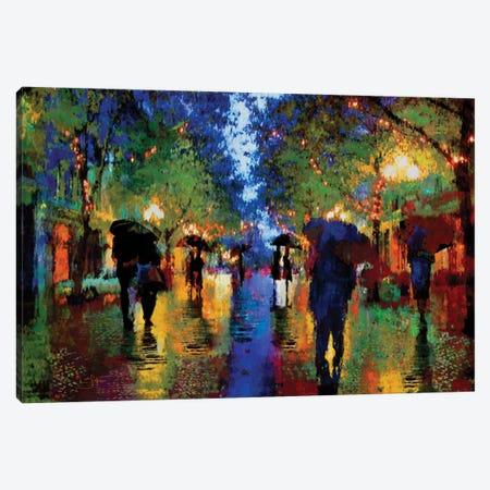 Evening Walk Canvas Print #LIR26} by Lisa Robinson Art Print