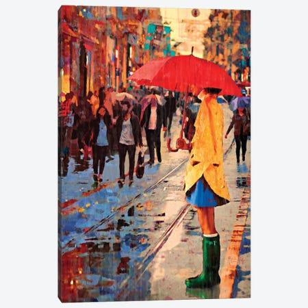 Green Galoshes Canvas Print #LIR30} by Lisa Robinson Canvas Art Print