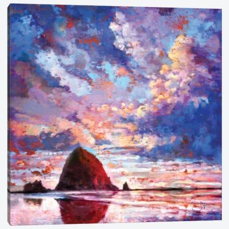 Haystack on Fire Canvas Print #LIR31} by Lisa Robinson Canvas Art Print