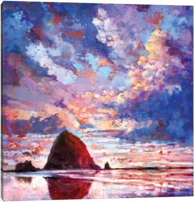 Haystack on Fire Canvas Art Print