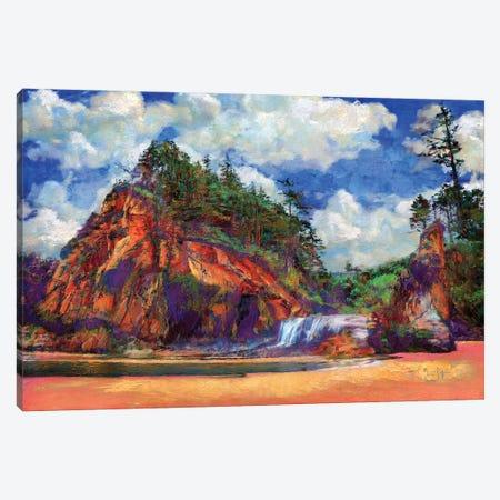 Hug Point Canvas Print #LIR35} by Lisa Robinson Canvas Artwork