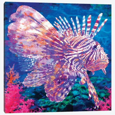 Lion Fish Canvas Print #LIR37} by Lisa Robinson Canvas Wall Art